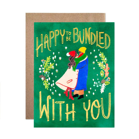 Happy To Be Bundled With You Single Card
