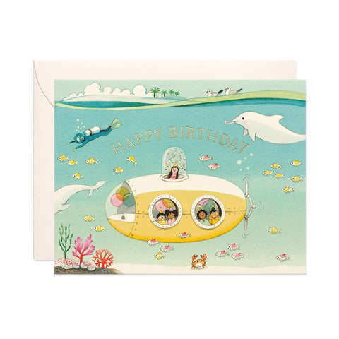 Submarine Birthday Single Card