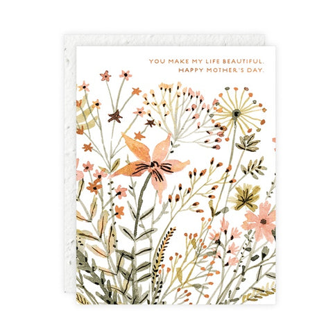 Wildflowers Mother's Day Single Card