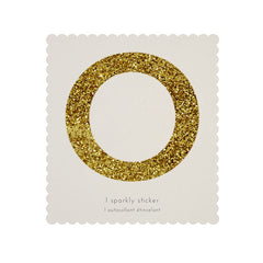 Gold Glitter Sticker - O