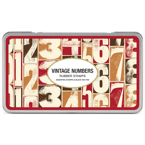 Vintage Numbers Rubber Stamp Set