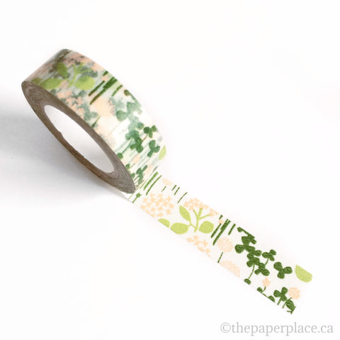 Green Little Garden Washi Tape - 15mm