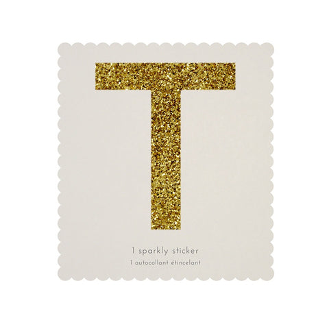 Gold Glitter Sticker - T