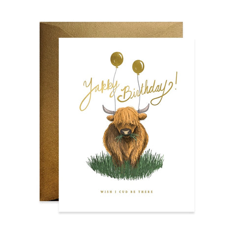 Yakky Birthday Single Card