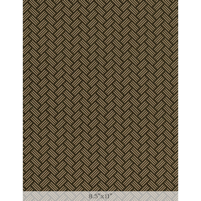"Lacquered Yuzen - Basketry Tan Sample 8.5"" x 11"""