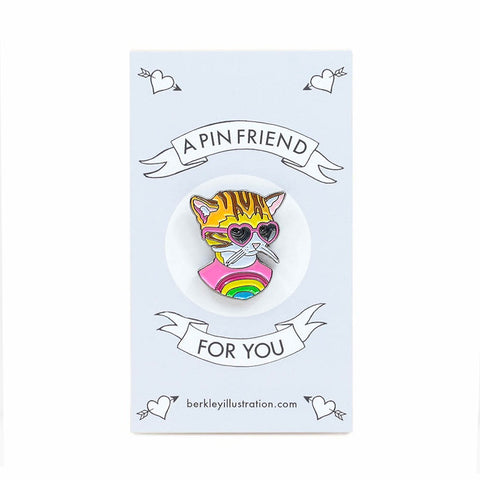 Berkley Rainbow Kitten Enamel Pin