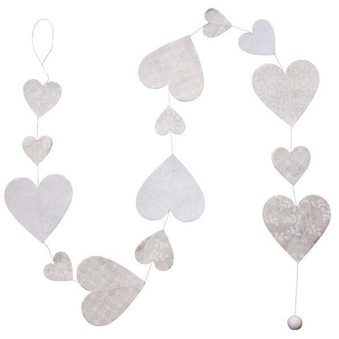 Heart Garland - White