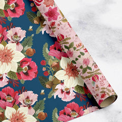 Double Sided Wrap - Folk Midsummer Florals/Bees