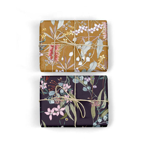 Double Sided Wrap - Gum Leaves/Bush Blossom