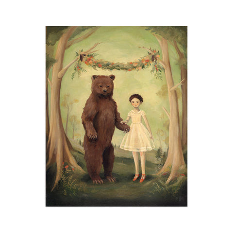 "In the Spring, She Married a Bear 8x10"" Print"