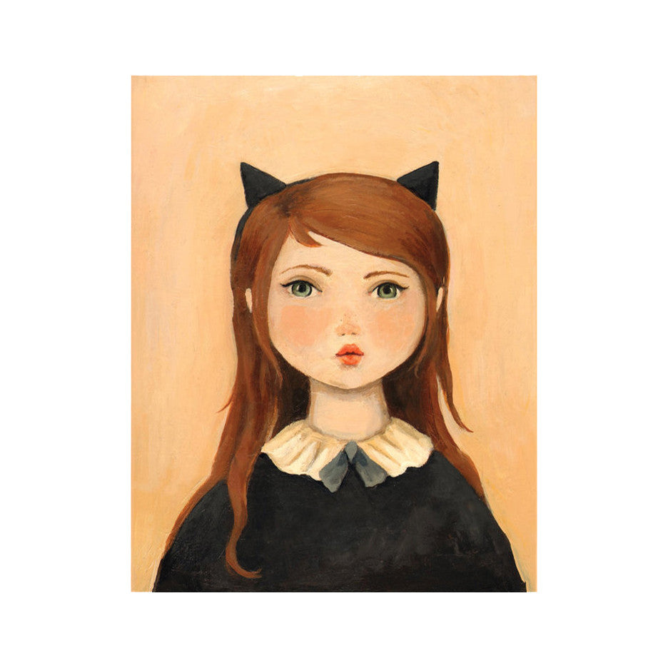 "Portrait With Cat Ears 8x10"" Print"