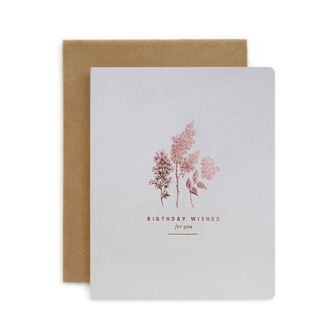 Botanical Birthday Wishes For You Single Card