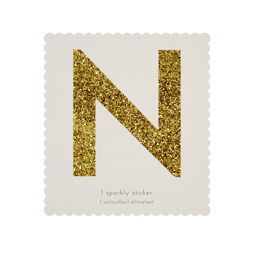 Gold Glitter Sticker - N