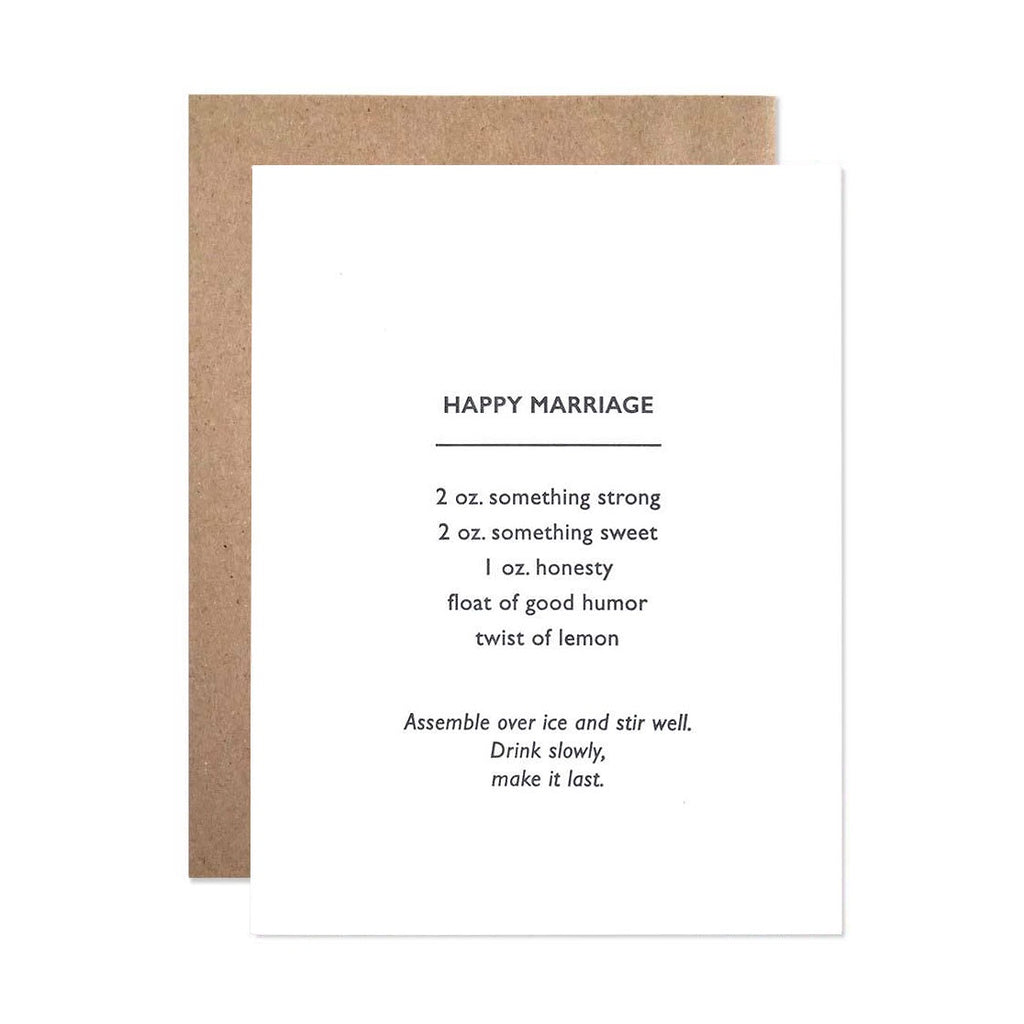 Happy Marriage Recipe Single Card