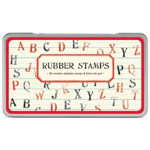 Uppercase Alphabet Rubber Stamp Set