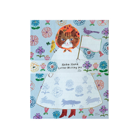 Neko Hana Letter Writing Set