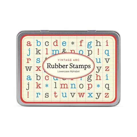 Vintage Alphabet Lower Case Rubber Stamp Set