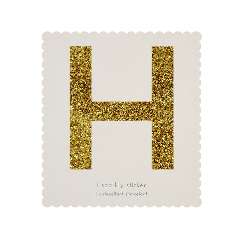 Gold Glitter Sticker - H