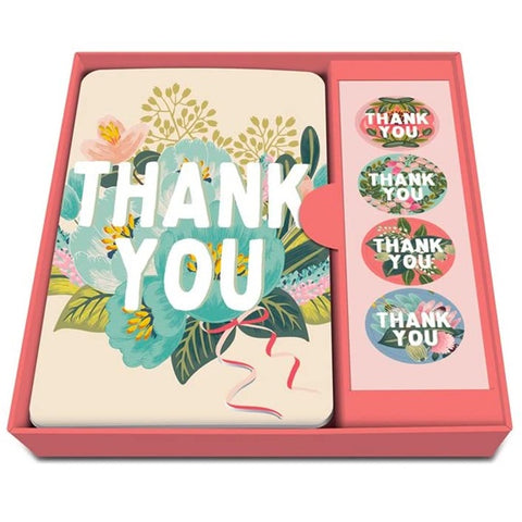 Flower Field  Thank You Boxed Cards