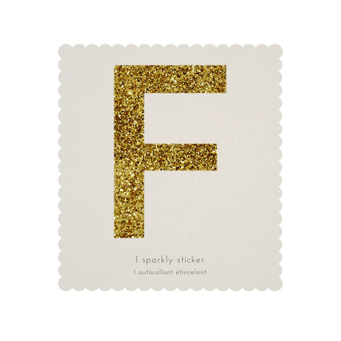 Gold Glitter Sticker - F