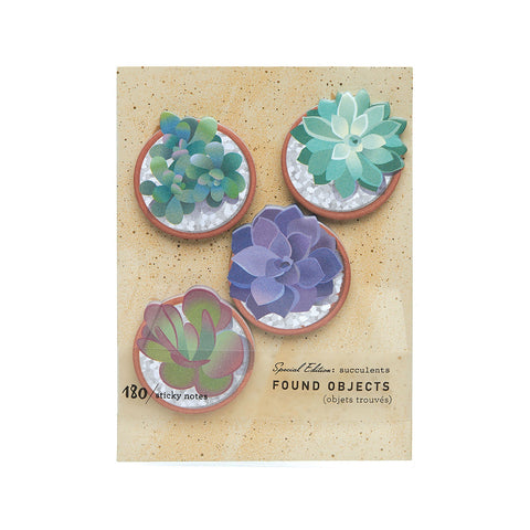 Found Objects - Succulents Sticky Notes
