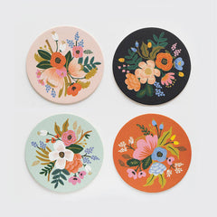 Lively Floral Coaster Set