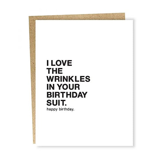 Birthday Suit Wrinkles Single Card
