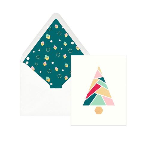 Geo Tree Holiday Boxed Cards