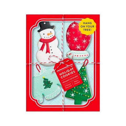 Holiday Cookies Ornament Notecards Set/12