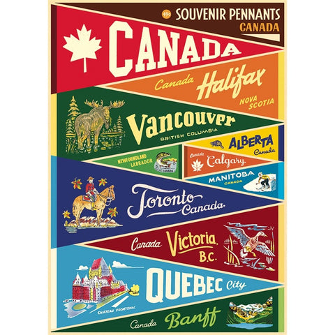 Canada Pennants Poster Wrap