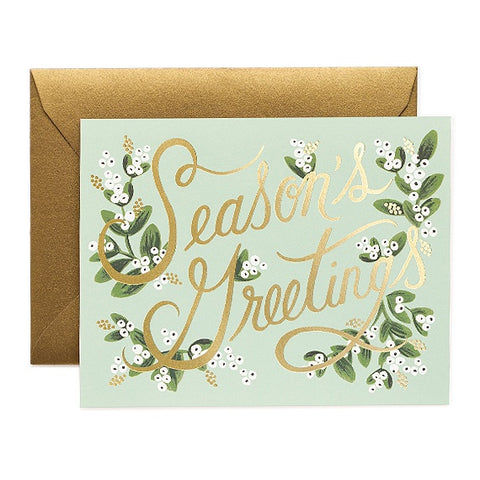 Mistletoe Season's Greetings Boxed Cards