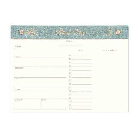 Seafoam Slay The Day - Post Bound Weekly Planner