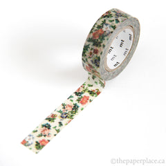 Mini Flower Botanical Art Washi Tape - 15mm