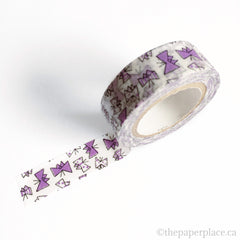 Purple Butterfly Washi Tape - 15mm