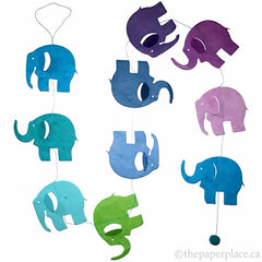 Elephant Garland - Blue