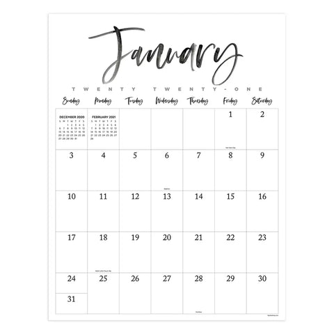 2021 Oversized Monthly Calendar