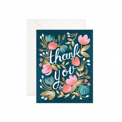 Midnight Garden Thank You Boxed Cards