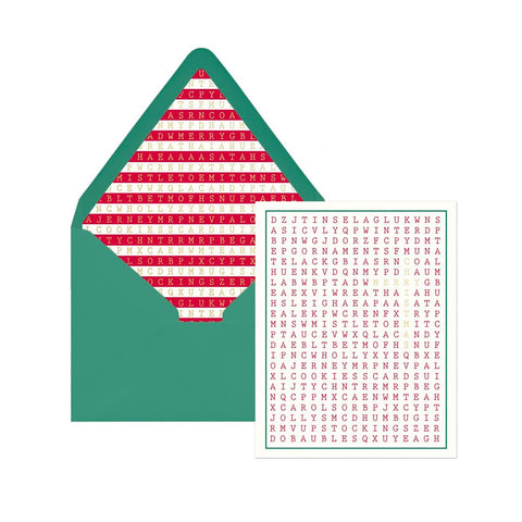 Merry Christmas Word Search Holiday Boxed Cards