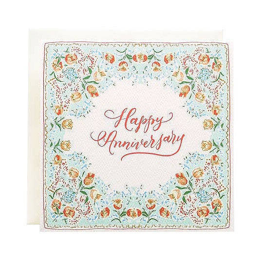 Handkerchief Happy Anniversary Single Card