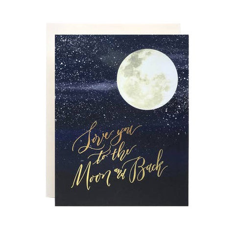 Love You To The Moon Single Card
