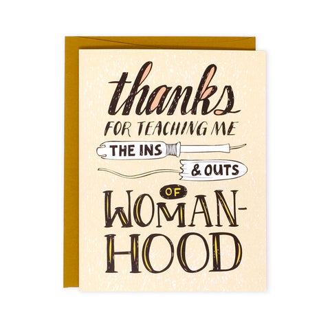 Womanhood Mother's Day Single Card