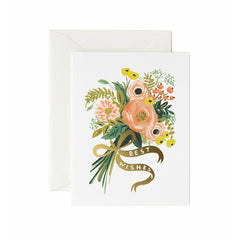 Rifle Best Wishes Bouquet Single Card