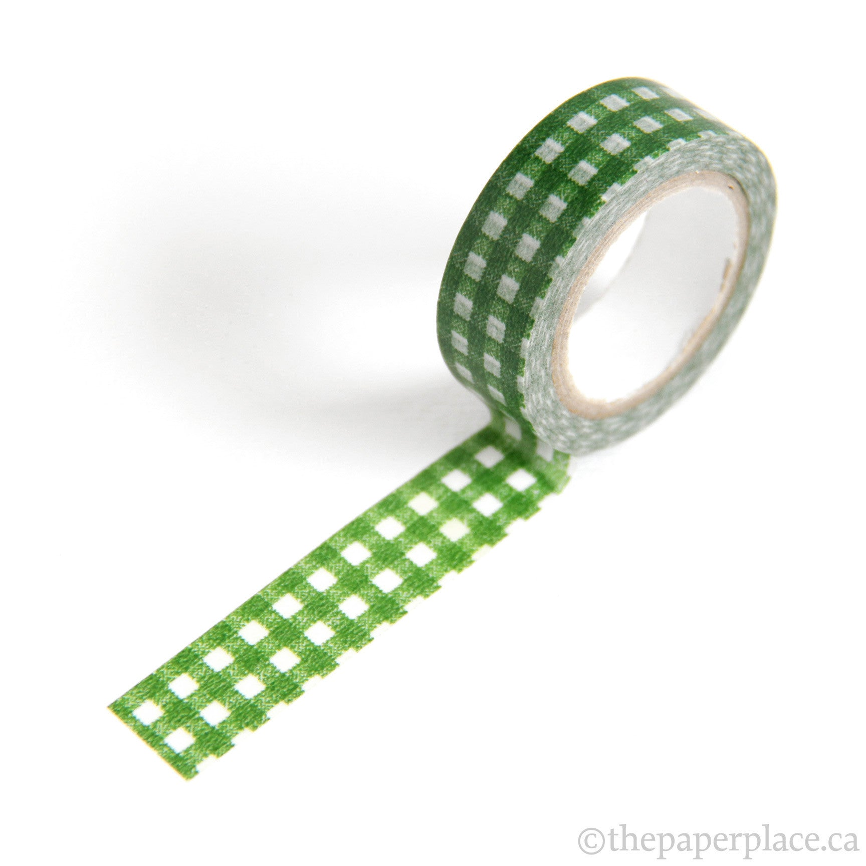 Gingham-Green Washi Tape - 15mm