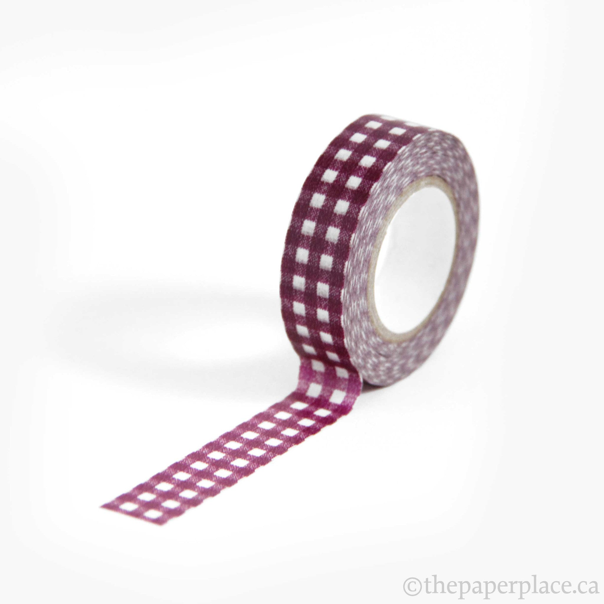 Gingham Plum Washi Tape - 15mm