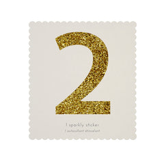 Gold Glitter Sticker - 2