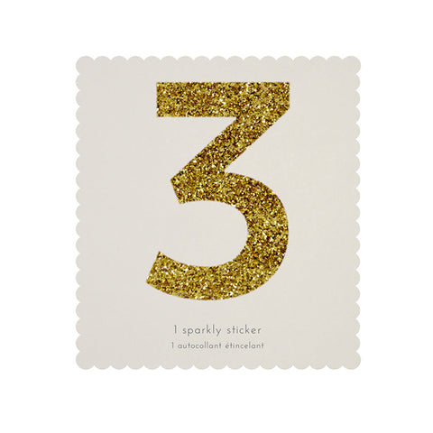Gold Glitter Sticker - 3