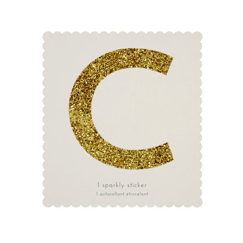 Gold Glitter Sticker - C