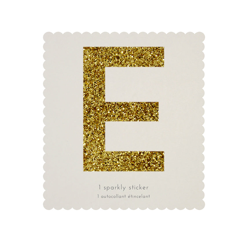Gold Glitter Sticker - E