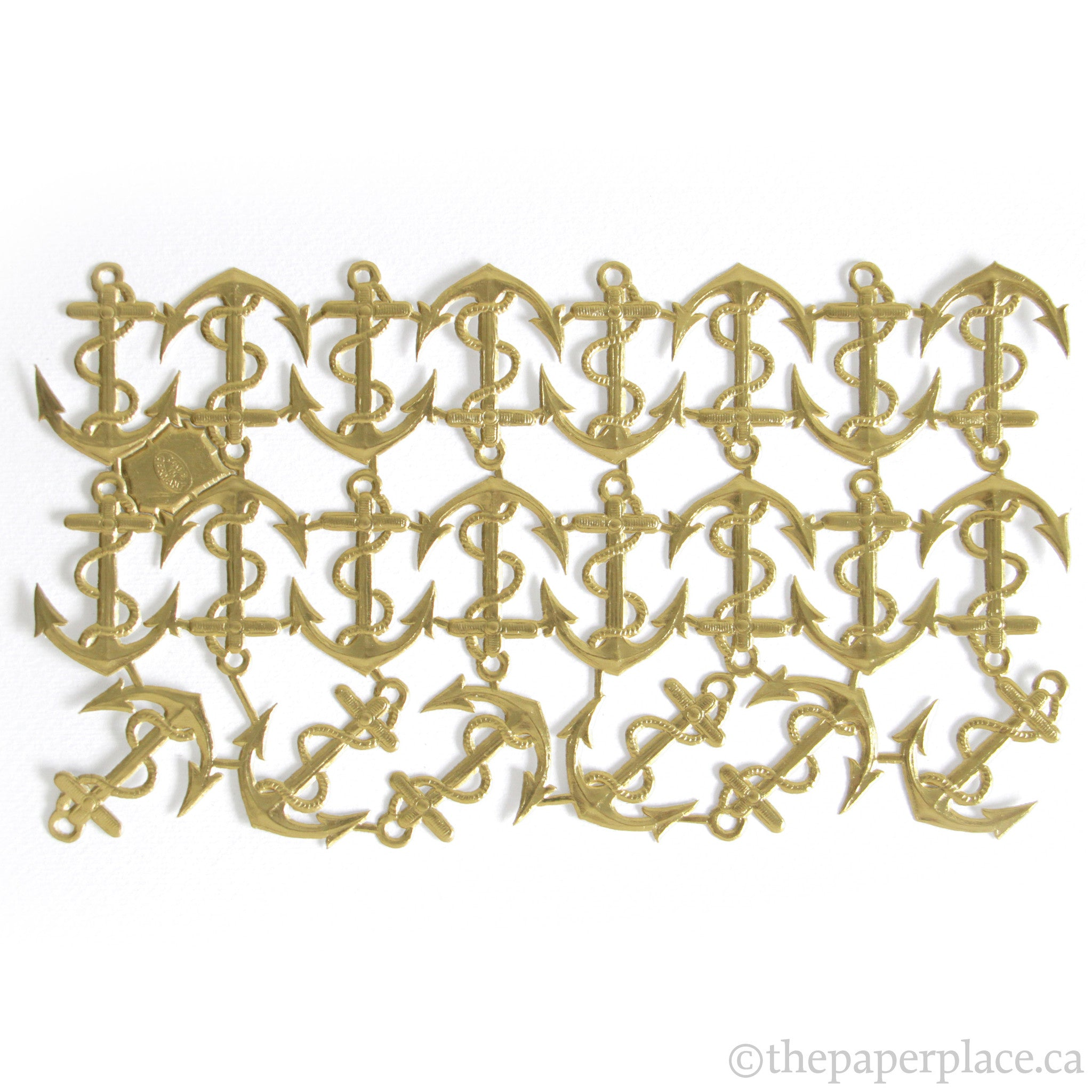 Dresden Trim - Anchor - Single-Sided Gold