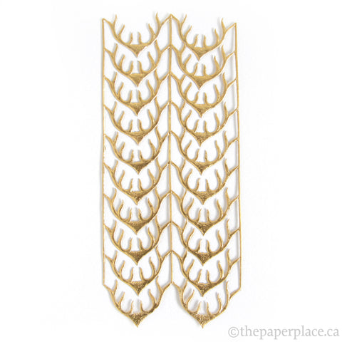 Dresden Trim - Antlers - Double-Sided Gold
